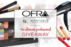 Enter to win professional makeup from OFRA COSMETICS and a pro hair tools set from CHI including a ceramic straightener, adaptable curling iron, and touch screen hair dryer! Ends 7/4/14 at 12 CST.