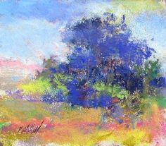 """Somewhat Violet"" pastel on paper 5""x 6"" © Barry Monohon 2009"