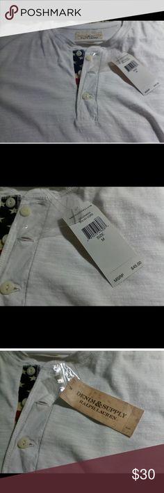 Ralph Lauren Denim &Supply Man's Henley Shirt NWT Younger man's fit. New. Short Sleeve Henley Denim & Supply Ralph Lauren Shirts Tees - Short Sleeve