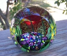 Glass Eye Studio Paperweight Secret Garden Enviromental Series