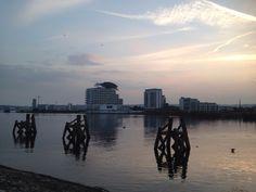 Cardiff Bay at dusk