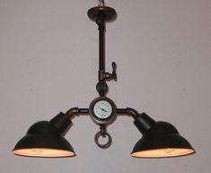 Steampunk lamp vintage industrial chandelier antique machine age edison bulb ceiling fixture steam punk. $399.00, via Etsy.