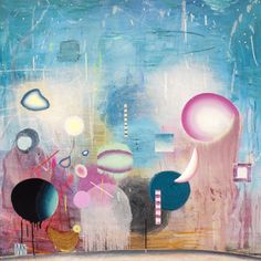 Matías Krahn. Evanescente. Óleo sobre tela,130x130 cm, 2012.