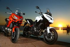 2015 Kawasaki Versys 1,000 and 650. I'd love to try out the new model.
