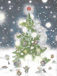 The Fir Tree – Christmas Comes to Moominvalley Merry Christmas To You, Winter Christmas, Christmas Ornaments, Xmas, Moomin Wallpaper, Moomin Mugs, Tove Jansson, Art Society, Navidad