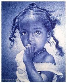 20 Realistic Ballpoint Pen Drawings from African Artist Enam Bosokah | Read full…