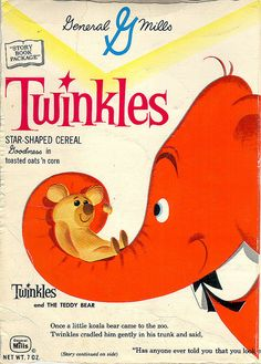 General Mills Twinkles cereal box, early '60s.