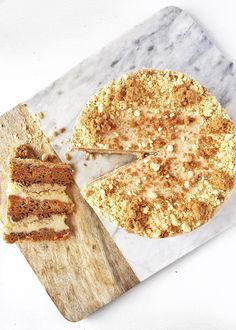 A unique twist on an Easter favorite, this carrot cake is stacked with carrot spice cake layers, soft cheesecake filling, milk cookie…
