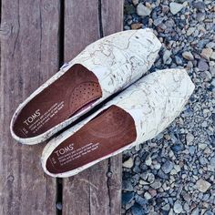 Classic Voyage Map Slip-On by Toms - $54