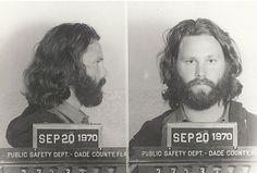 Jim Morrison, 1971 Miami, Fla. Charge: indecent exposure & profanity