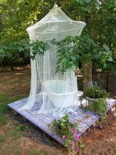 My private Oasis. I made this tous h relax on a starry evening to watch fireflies and drink a cool, sweet beverage. Outdoor Bathtub, Outdoor Bathrooms, Dream Bathrooms, Outdoor Rooms, Outdoor Gardens, Outdoor Living, Outdoor Decor, Spas, Cabana