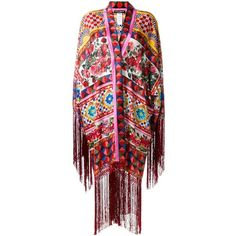 Dolce & Gabbana Mambo print kaftan dress ($1,557) ❤ liked on Polyvore featuring dresses, multicolor, red wrap dress, long sleeve dress, evening dresses, long evening dresses and long summer dresses