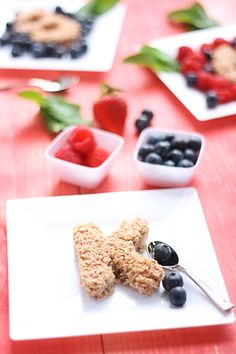 Strawberry Baked Oatmeal. Great for adults or make cute cutouts for the kids!