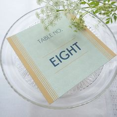 Eldoris table stationery adds just a hint of Deco glamour.