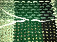 """Crochet Master Class – The Woven Crochet (part : A few months ago I started the second project in the """"Crochet Master Class"""" book. Yesterday I finished the Tartan Afghan. I must admit after seeing the finished afghan I am really pleas… Crochet Afghans, Crochet Quilt, Tunisian Crochet, Afghan Crochet Patterns, Crochet Stitches, Plaid Crochet, Knit Crochet, Crochet Hook Set, Crochet Crafts"""