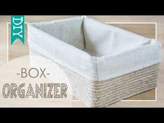 Turn your old cardboard boxes into decorative storage bins! You can get the look of a woven basket using twine or a rope to cover an empty cardboard box. box cardboard Don't Throw Away That Cardboard Box, Transform it with This Gorgeous DIY Diy Box Organizer, Diy Storage Organiser, Shoe Box Storage, Cardboard Organizer, Cardboard Storage, Cardboard Box Crafts, Fabric Storage Boxes, Diy Organization, Cardboard Castle