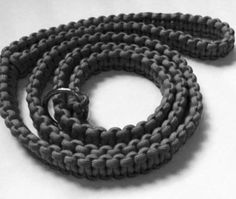 Dual paracord 4 strand rope braid dog leash splitter with for Paracord leash instructions