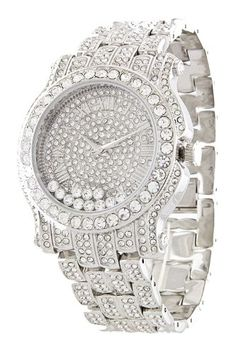 interiordemocrats org iced out white crystal black hip hop totally iced out pave floating crystal silver tone hip hop men s bling bing watch xanadu