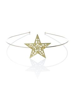 Rock n Rose Esther Star Tiara you're our guiding light, babe~ This magnificent tiara features an ultra thin 'N comfortable open-ended base and intricately patterned oversize star charm attached to the front.
