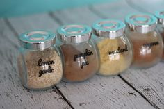 Spice Jar Labels, Custom Spices, Custom Color