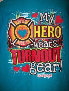 Hero - Fire Department, Girlie Girl T-Shirt