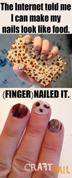 matzoh manicure -- nailed it!
