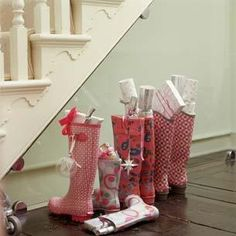 Stockings!!! Who says they have to hang???
