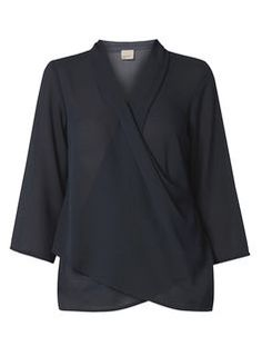 **Vero Moda Navy Wrap Top