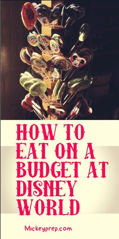 How to eat on a budget at Disney world. Cheap ways to feed a family at Disney world. Tips and tricks to save money at disney world.