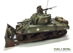 M4A3 Sherman Dozer, Ardennes 1944. Military Vehicles, Tractors, Battle, Army Vehicles