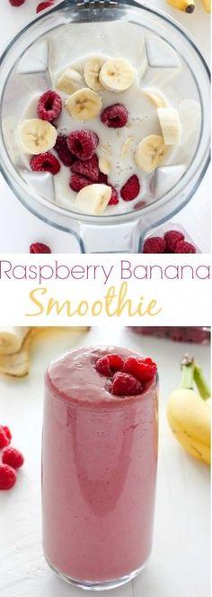 Banana Smoothie - Raspberries - Ideas of Raspberries - Raspberry Banana Smoothie sweet creamy healthy and SO delicious!Raspberry Banana Smoothie - Raspberries - Ideas of Raspberries - Raspberry Banana Smoothie sweet creamy healthy and SO delicious! Smoothie Detox, Juice Smoothie, Smoothie Drinks, Smoothie Mixer, Fruit Juice, Fruit Yogurt, Smoothie Vert, Diet Detox, Juice Drinks