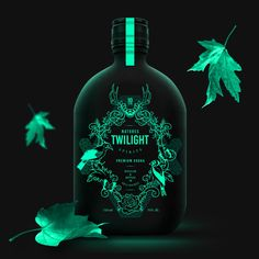 Nature's Twilight on Packaging of the World - Creative Package Design Gallery Gin Bottles, Alcohol Bottles, Wine Bottle Labels, Beer Labels, Glass Bottle, Bottle Packaging, Brand Packaging, Cosmetic Packaging, Design Packaging