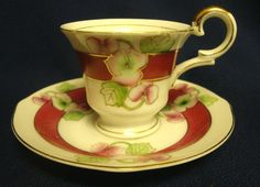 Ucagco China Demitasse Cup and Saucer Set Occupied Japan