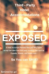 Exposing Third-Party Hotel Rates and Reservations - how sites like expedia, orbitz, etc., manage to get the prices they do, how the process actually works between the hotel and the third party, what room rate the hotel actually receives, and how you can get a better deal!