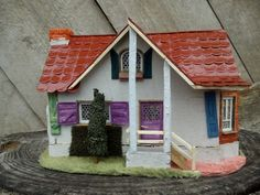 hand made miniature house cottage for sale. A very nice detailed handmade piece of work made by me.