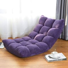 This is latest floor chair which can be adjusted into 14 positions and satisfy your various demands. It allows you to read, watch TV, play games with your family, chat with your friends or just lie to enjoy your leisure time. Sofa Seats, Sofa Chair, Chair Cushions, Couch, Wood Bedroom Furniture, Patio Furniture Sets, Rocking Bench, Folding Lounge Chair, Cheap Dining Room Chairs