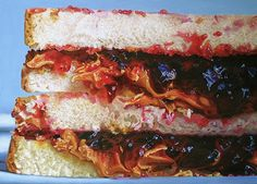 """thedailywhat: """" Photorealism of the Day PB&J ½ an oil painting by Mary Ellen Johnson Photorealism of the Day is a feature series showcasing notable paintings and illustrations that appear to. Hyperrealism, Photorealism, Hyper Realistic Paintings, Food Painting, Thing 1, Painting Still Life, Good Enough To Eat, Food Drawing, Food Illustrations"""