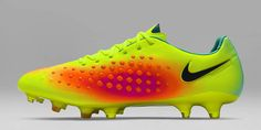 The Volt Nike Magista Opus II football boots introduce a striking look for the first-ever launch of the second-gen Nike Magista Opus.