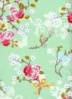 Bedroom Wallpaper idea 1# (Chinese rose green 386036)