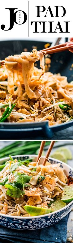This Pad Thai with Shrimp and Tofu gives you all the flavors and taste of the authentic Pad Thai, in the comfort of your home. Who needs takeout when you can do this in less than 30 minutes!