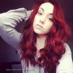 Long Hot Red Hair Color Design 624x624 Pixel