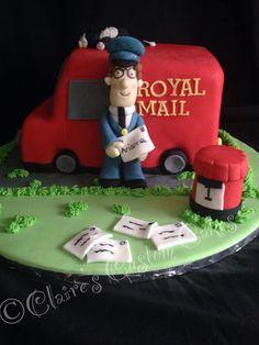 Postman pat cake with Jess sleeping on top of the van