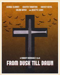 From Dusk Till Dawn (1996) - Minimal Movie Poster by Jon Glanville ~ #jonglanville #minimalmovieposters #alternativemovieposters