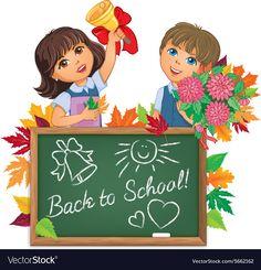 Kids back to school board vector image on VectorStock