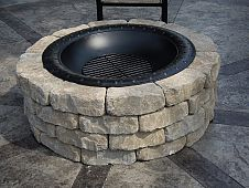 How to Build A Firepit We built this simple firepit at the end of the summer and it only takes 30 minutes to put it together!