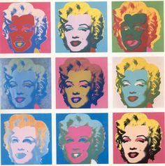 Marilyn Monroe by Andy Warhol. Andy Warhol is the iconic designer during the Pop Art era. Andy Warhol Marilyn, Art Marilyn Monroe, Andy Warhol Obra, Art Andy Warhol, Pop Art, Cultura Pop, Art Plastique, Oeuvre D'art, American Artists