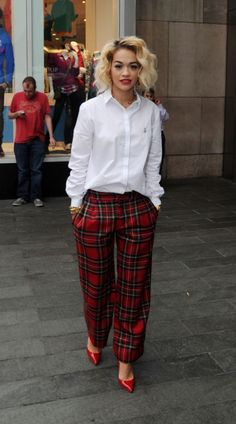 Plaid, Tartan pants and Tartan on Pinterest