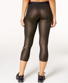 Nike Pro Sparkle Capri Leggings - Black XS