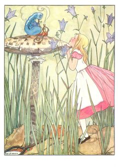 'Alice meets the Caterpillar' by Erven Rie Cramer from 'Alice's Adventures in Wonderland' (Lewis Carroll)