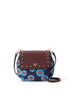 Kate Spade New York Cameron Street Tangier Floral Small Byrdie Crossbody Kate Spade Cameron Street, Unique Purses, Leather Crossbody Bag, Crossbody Bags, Leather Bags, Studded Leather, Cute Bags, Large Bags, Tangier